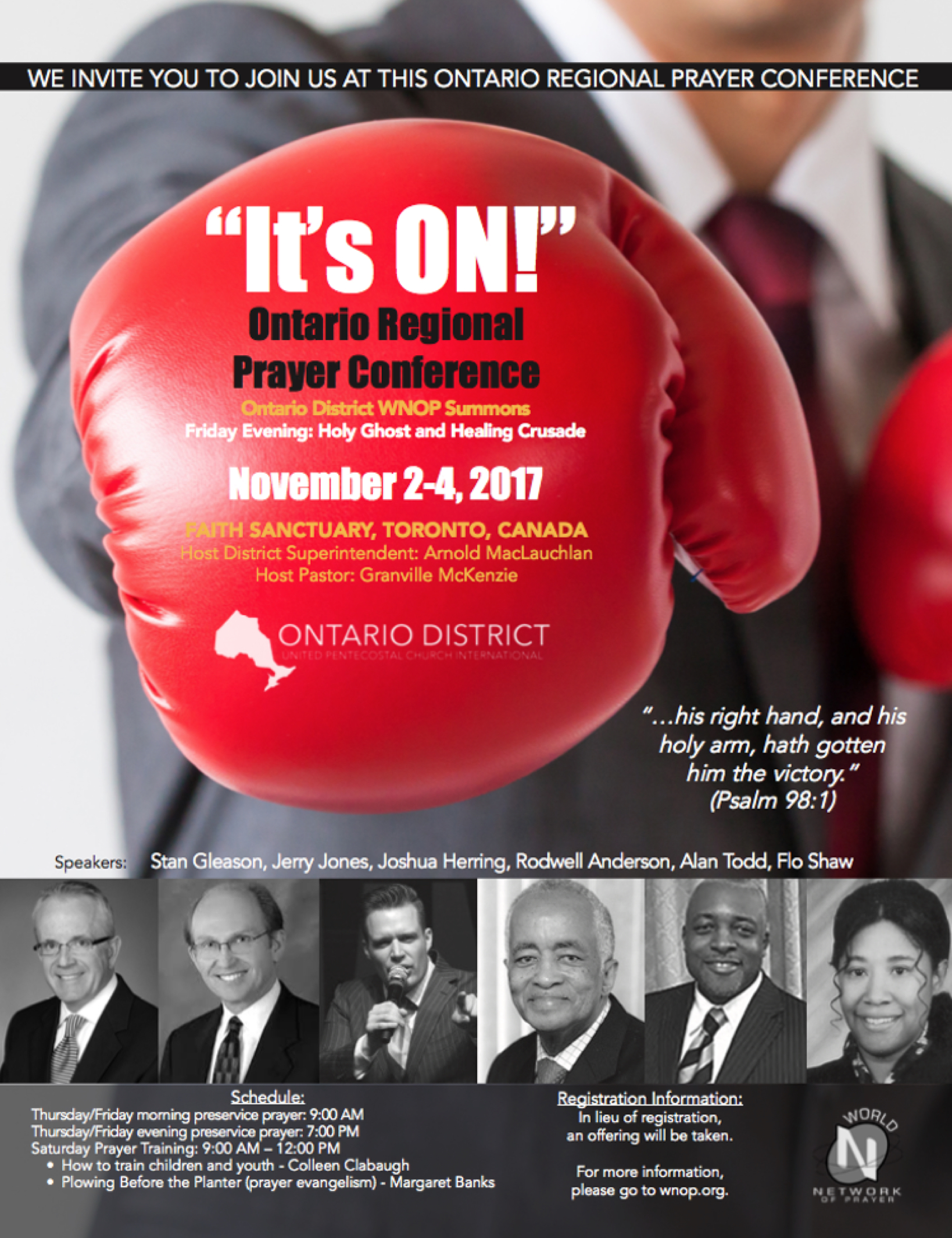 Ontario Prayer Conference 2017 Poster